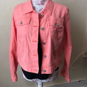 Cato Stretch Denim Jacket L Peach